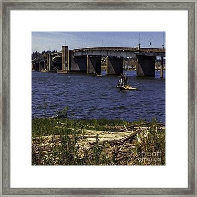 Aberdeen Bascule Bridge Framed Print by Jean OKeeffe Macro Abundance Art
