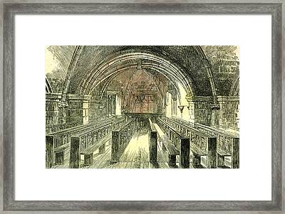 Aberdeen East Church The Crypt 1885 Uk Framed Print by English School