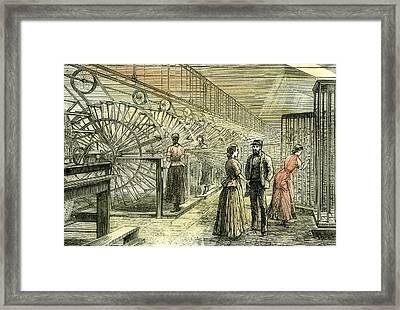 Aberdeen Granholm Tweed Mills 1885 Uk Warping Machines Framed Print