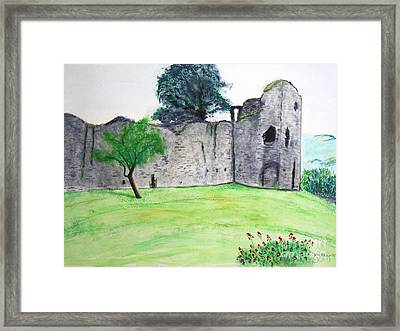 Abergavenny Castle Framed Print