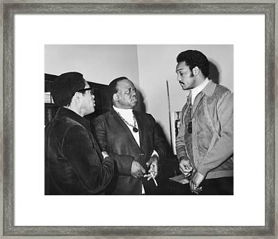 Abernathy And Jesse Jackson Framed Print