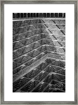Abhaneri Stepwell Framed Print