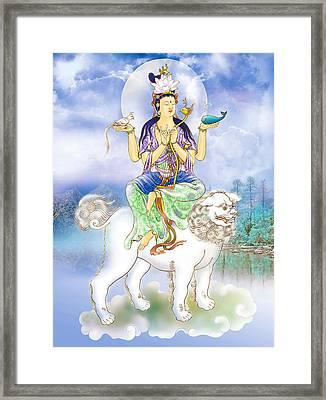 Framed Print featuring the photograph Abhetri Kuan Yin  by Lanjee Chee