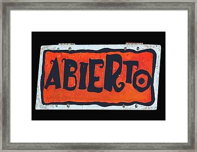 Abierto Framed Print