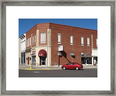 Abilene Kansas - 2nd And Broadway Framed Print
