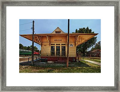 Abilene Station Framed Print by Mary Jo Allen