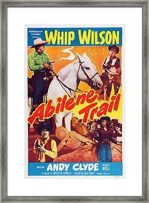 Abilene Trail, Top From Left Whip Framed Print by Everett
