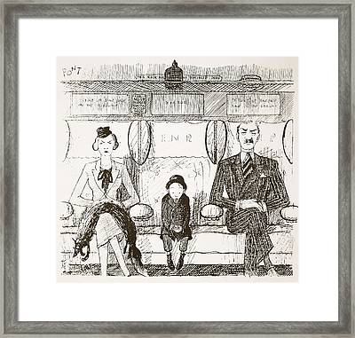 Ability To Be Ruthless, Illustration Framed Print