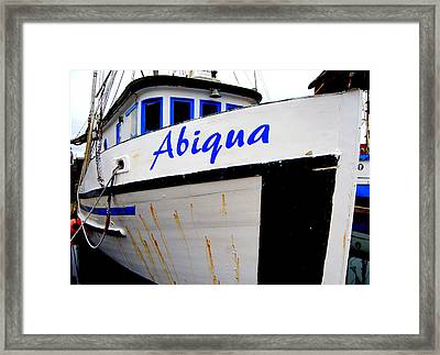 Abiqua Framed Print by Mamie Gunning