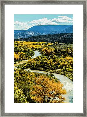 Abiquiu, New Mexico, Curvy Chama River Framed Print