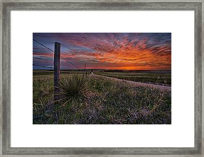 Ablaze Framed Print by Thomas Zimmerman