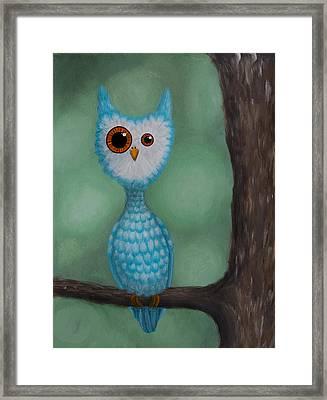 Abnormal Owl Framed Print by Lisa Tinsley