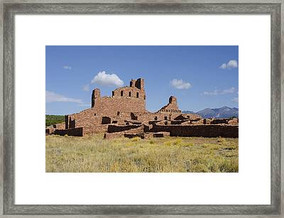 Abo Ruins Of Salinas Pueblo Missions National Monument Framed Print by Shelley Dennis