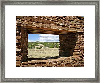 Abo Stoney Window Framed Print