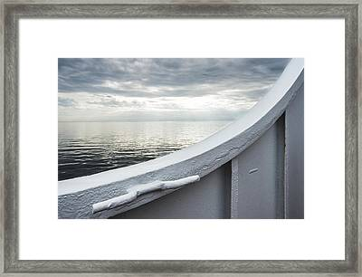 Aboard The Ferry Framed Print