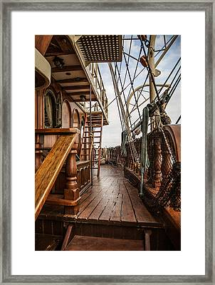 Aboard The Tall Ship Peacemaker Framed Print by Dale Kincaid