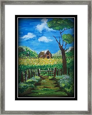 Abode Framed Print by Juna Dutta