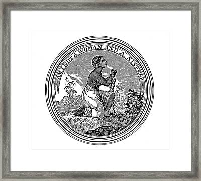 Abolition Emblem, 1837 Framed Print by Granger