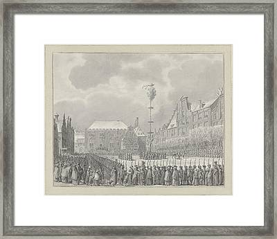 Abolition Of Stadhouderschap On The Grote Markt In Haarlem Framed Print by Quint Lox