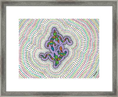 Aboriginal Gecko Lizard Framed Print