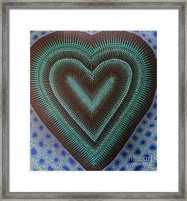 Framed Print featuring the painting Aboriginal Inspirations 5 by Mariusz Czajkowski