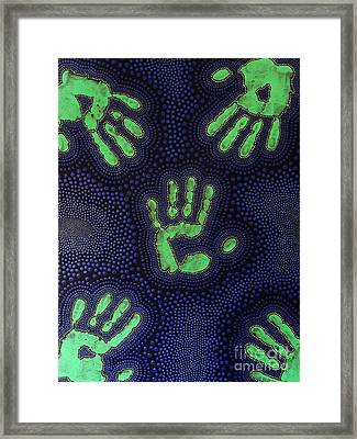 Framed Print featuring the painting Aboriginal Inspirations 6 by Mariusz Czajkowski