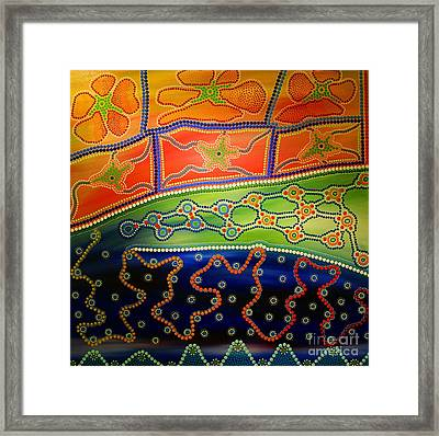 Original Sold Aboriginal Inspirations 7 Framed Print