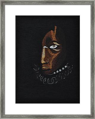 Aboriginal Woman Framed Print