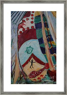 Aborigines Sail Framed Print by Avonelle Kelsey