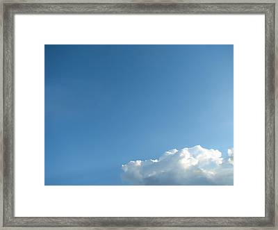 About A Cloud Framed Print by Wendy J St Christopher