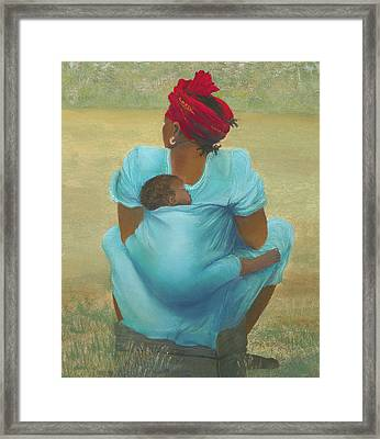 About Color Framed Print by Martha J Davies