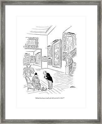 About How Large A Wall Safe Did You Wish To Hide? Framed Print