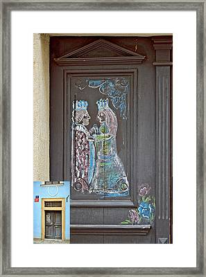 About Love. The Door. Next To Charles Bridge. Prague. Czech Republic. Framed Print by Andy Za