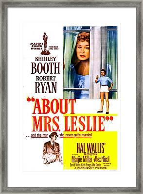 About Mrs. Leslie, Us Poster, From Top Framed Print