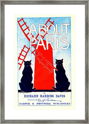 About Paris Advertisement 1895 Framed Print by Padre Art