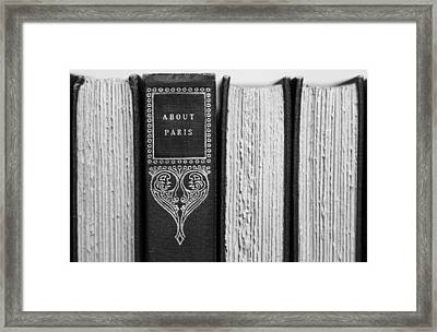About Paris In Black And White Framed Print