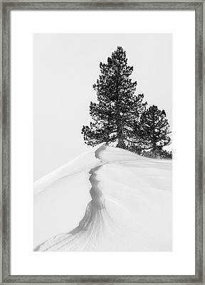 About The Snow And Forms Framed Print