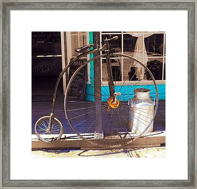 Framed Print featuring the photograph About Time - The Bicycle by Sandro Rossi