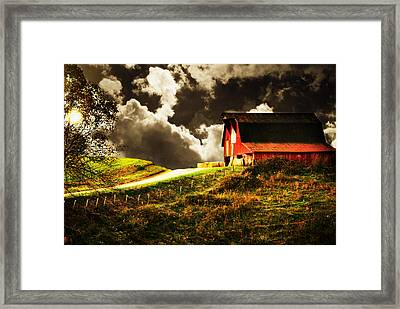 About To Storm Framed Print by Chastity Hoff