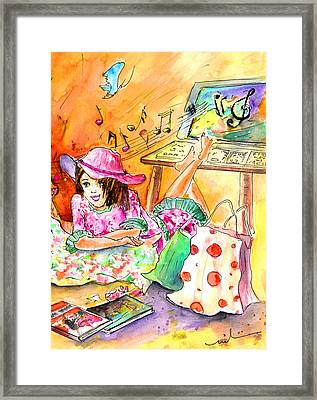 About Women And Girls 09 Cis Framed Print by Miki De Goodaboom