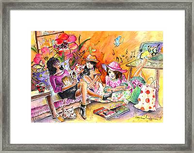About Women And Girls 09 Framed Print by Miki De Goodaboom
