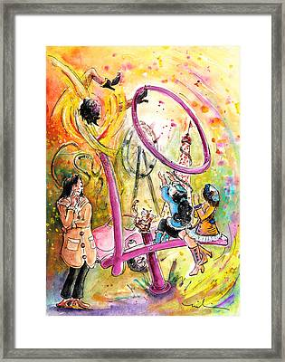 About Women And Girls 10 Framed Print by Miki De Goodaboom