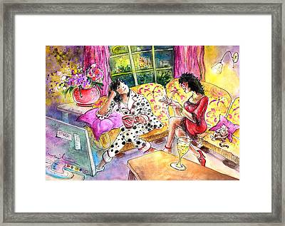 About Women And Girls 11 Framed Print by Miki De Goodaboom
