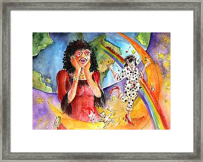 About Women And Girls 15 Framed Print by Miki De Goodaboom