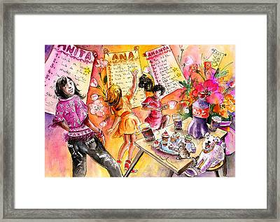About Women And Girls 19 Framed Print by Miki De Goodaboom