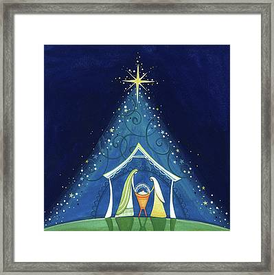 Above A Star Framed Print by P.s. Art Studios