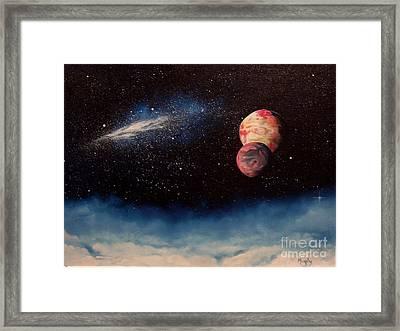 Above Alien Clouds Framed Print by Murphy Elliott