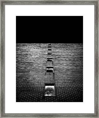 Framed Print featuring the photograph Above And Below At No 369 Pape Ave Toronto Canada by Brian Carson