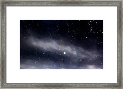 Above Framed Print by Angela J Wright