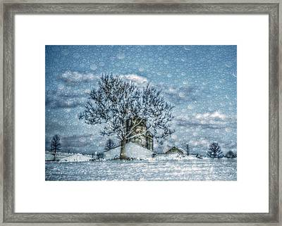 Above Barto Winter Framed Print by Trish Tritz